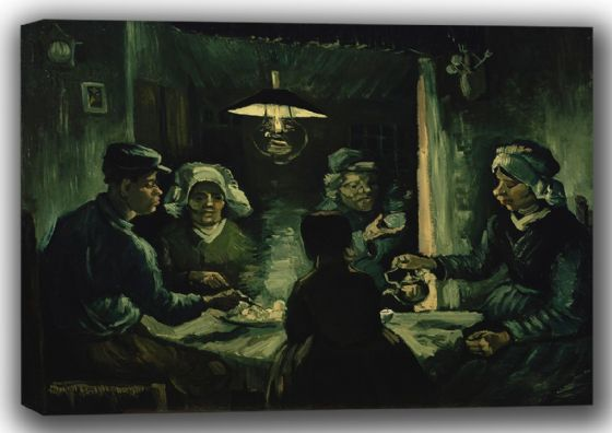 Van Gogh, Vincent: The Potato Eaters. Fine Art Canvas. Sizes: A4/A3/A2/A1 (001517)